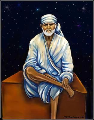 Baba Portrait Painting - Sai Baba by Carmen Cordova