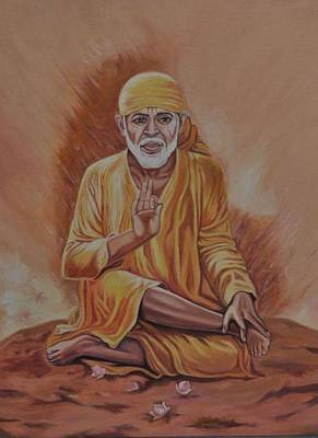 Sai Baba Painting - Sai Baba Of Shirdi Painting by Anju Rastogi