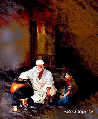 Of Sai Baba Painting - Sai Handi By Sunil Shegaonkar by Sunil Shegaonkar