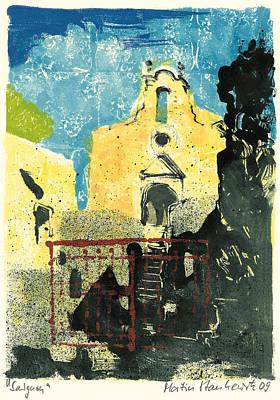 Painting - Saignon  Provence Chapel Saint Michel by Martin Stankewitz