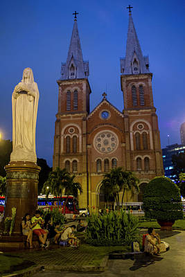 Photograph - Saigon Notre Dame Cathedral by Hitendra SINKAR