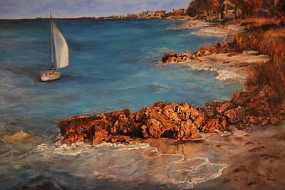 Sea Of Cortez Painting - Sail-a-way by Phyllis Barrett