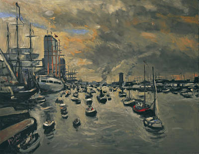 Ship Painting - Sail Amsterdam 2015 by Nop Briex