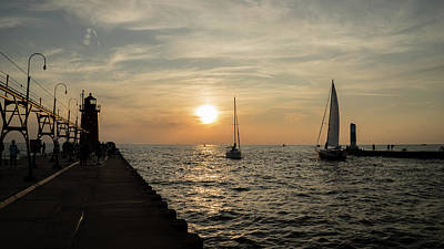 Photograph - Sail And Sunset by Jared Windler