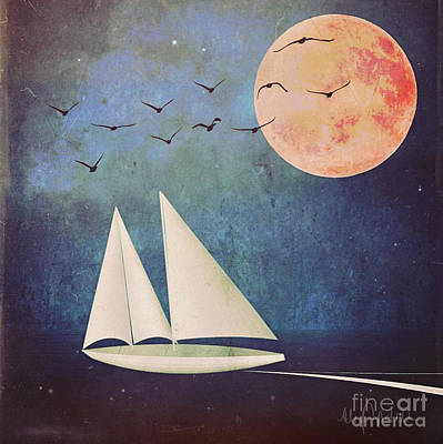 Digital Art - Sail Away by Alexis Rotella