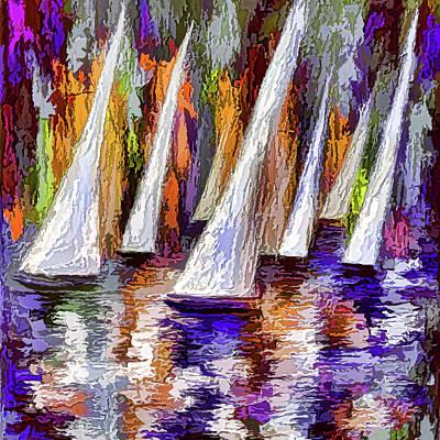 Digital Art - Sail Away by OLena Art Brand