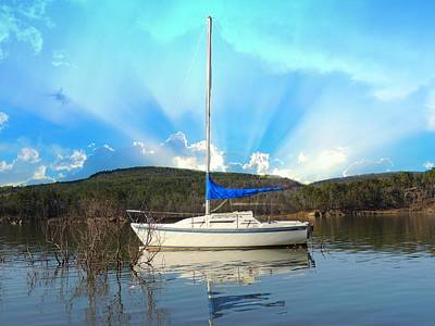 Greers Ferry Lake Photograph - Sail Away by Delana Epperson