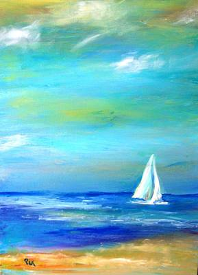 Painting - Sail Away In Tropical Waters by Patricia Taylor