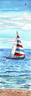 Painting - Sail Away by LeAnne Sowa