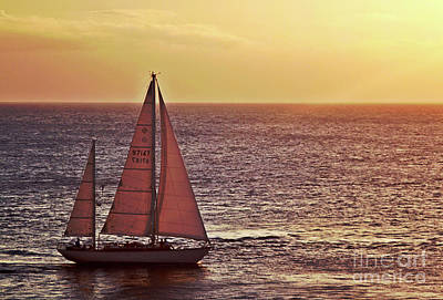 Sail Away Art Print by Maria Arango