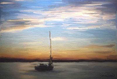 Art Print featuring the painting Sail Away by Wayne Pascall