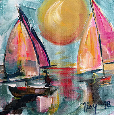 Transportation Painting - Sail Away With Me by Roxy Rich
