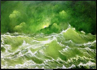 Painting - Sail Away With Me by Trinath Sen