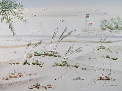 Painting - Sail Boat And Sea Oat 1 by Richard Schoessow