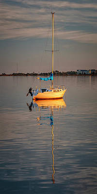 Photograph - Sail Boat In Roanoke Sound 1x2 Ratio Img_3969 by Greg Kluempers