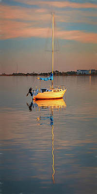 Photograph - Sail Boat In Roanoke Sound 1x2 Ratio Photo Painting Img_3969 by Greg Kluempers