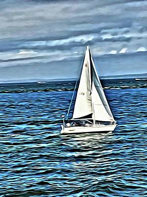 Painting - Sail Boat by Marian Palucci-Lonzetta