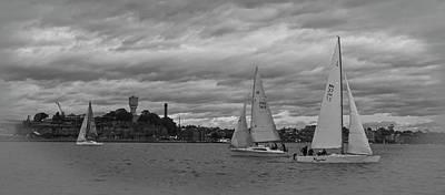 Photograph - Sail Boats And Cockatoo Island Backdrop by Miroslava Jurcik