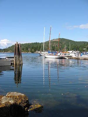 Photograph - Sail Boats At Pender Horbour by Gary Giacomelli