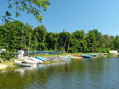 Art Print featuring the photograph Sail Boats At Rest by Donald C Morgan