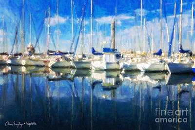 Painting - Sail Boats In Port by Chris Armytage