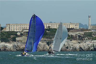 Photograph - Sail Boats On The San Francisco Bay 7d18360 by San Francisco Art and Photography