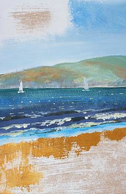 Mixed Media - Sail Boats On The Water by Mike Jory