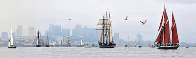 Photograph - Sail Boston 2017 Oostershedle And Angelique by John Brown