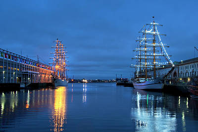 Photograph - Sail Boston Tall Ships  by Joann Vitali