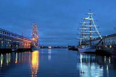 Boston Harbor Photograph - Sail Boston Tall Ships  by Joann Vitali