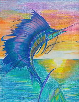 Sail-fishing Art Print