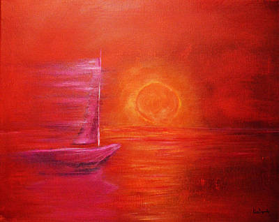 Sailboat Painting - Sail In Motion by Ken Figurski