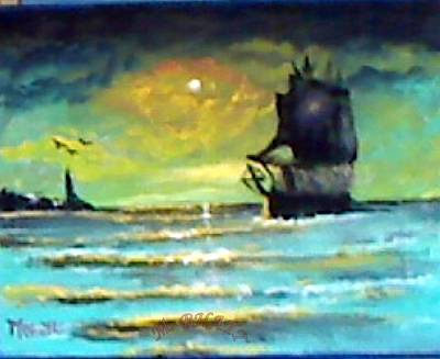 Painting - Sail In The Deep by M Bhatt