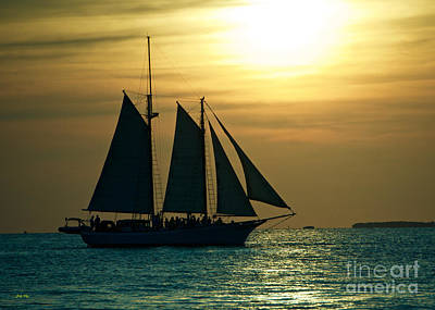 Photograph - Sail Into Sunset by Judy Kay
