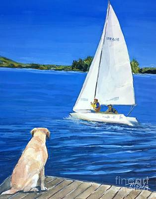 Painting - Sail Lab by Molly Poole