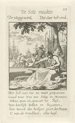 Drawing - Sail Maker Zeilmaker Jan Luyken 1694 by R Muirhead Art