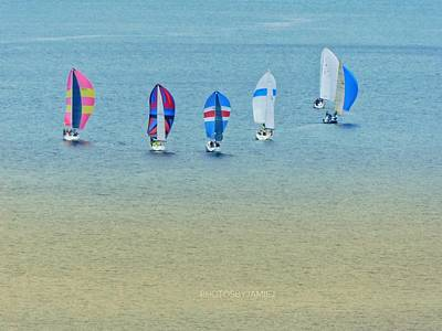 Photograph - Sail Parade by Jamie Johnson