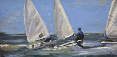 Painting - Sail Racers by Donna Tuten