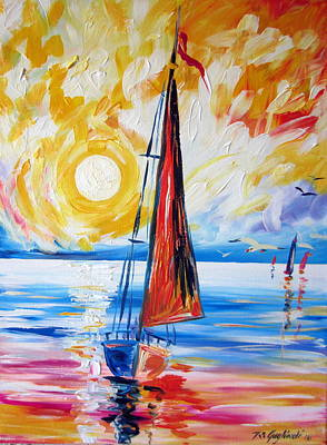 Painting - Sail Sail More by Roberto Gagliardi