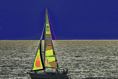 Photograph - Sail Through The Clear Blue Sky by Kenneth James