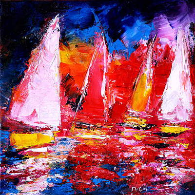 Painting - Sail To The Sunset by K McCoy