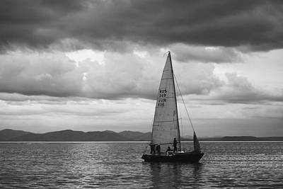Vladivostok Photograph - Sail Under Stormy Clouds by Mariia Kalinichenko