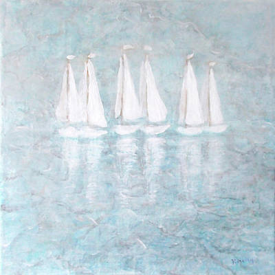Painting - Sailaway By V.kelly by Valerie Anne Kelly