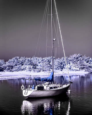 Photograph - Sailboat 09 by Hayden Hammond