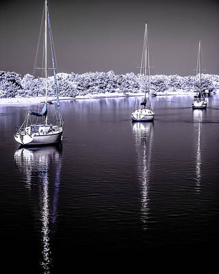 Modern Sophistication Beaches And Waves Royalty Free Images - Sailboat 16 Royalty-Free Image by Hayden Hammond