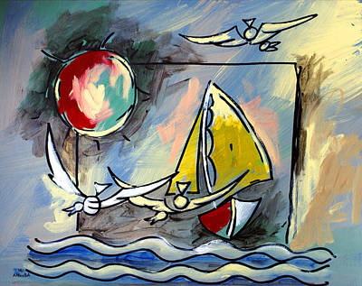 Sailboat 2 Art Print