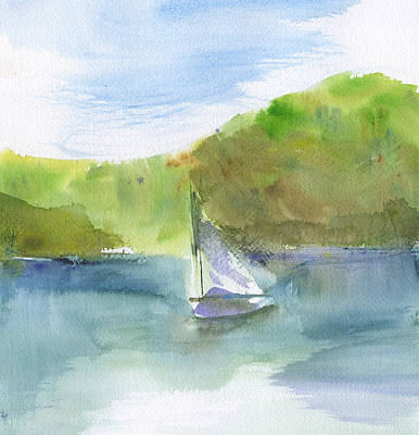 Painting - Sailboat Abstract 2 by Frank Bright