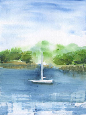 Painting - Sailboat Abstract by Frank Bright