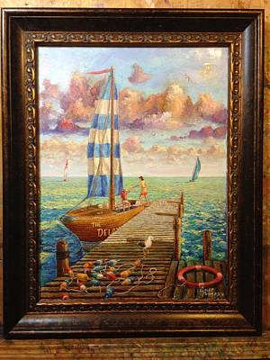 Blue Bouys Painting - Sailboat Adventure by Caleb Thomas