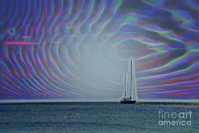 Photograph - Sailboat And Bubbles by Todd Breitling